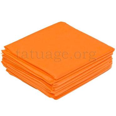 Простыни поштучного сложения оранжевые