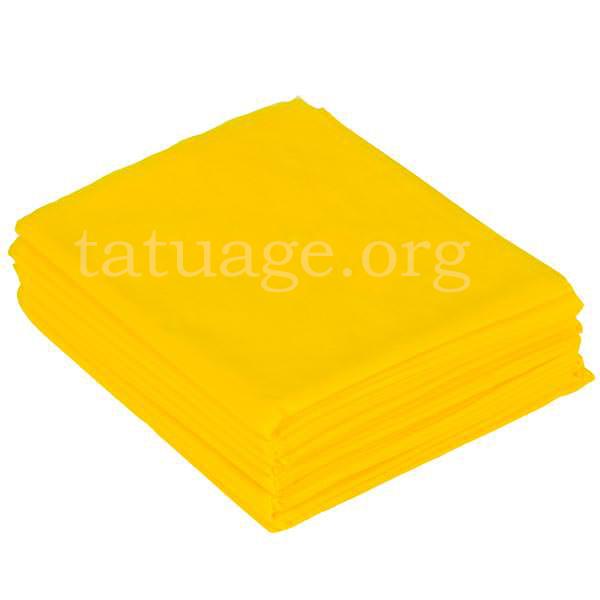 Простыни одноразовые желтые