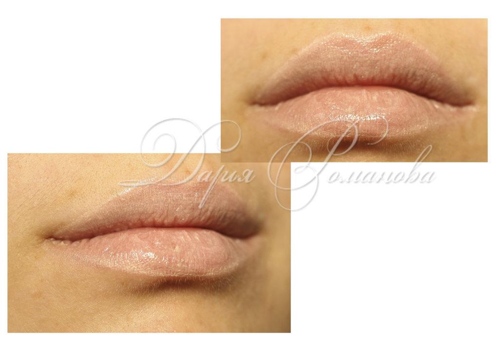 309Перманентный макияж губ естественный