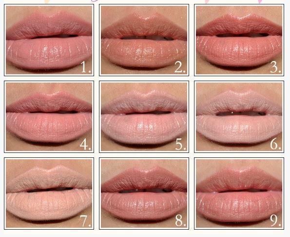 Цветная и форма татуажа губ