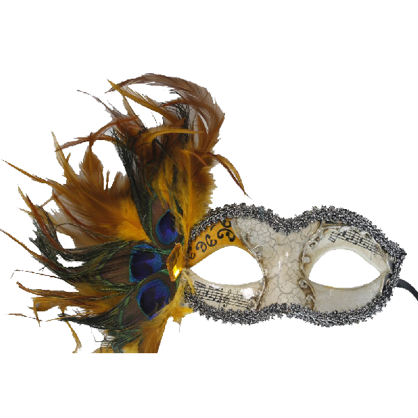 RedSkyTrader-Womens-Aged-Finish-Mask--Peacock-Feathers-2