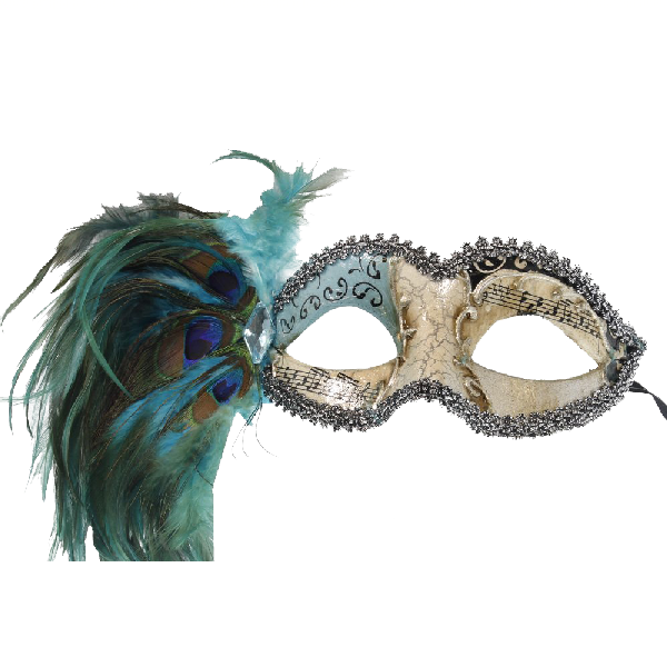 RedSkyTrader-Womens-Aged-Finish-Mask--Peacock-Feathers-3