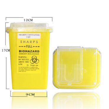 Контейнер для утилизации игл желтый