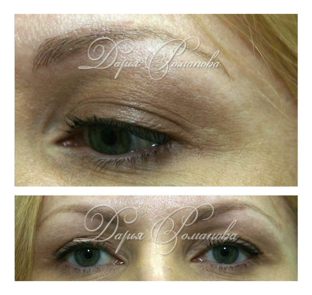 Натуральный и естественный перманентный макияж бровей для блондинок!