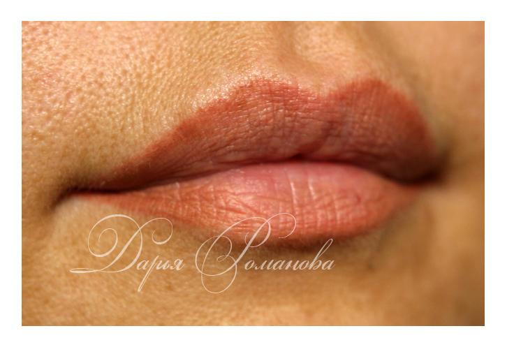 Персиковые губы подходят многим девушкам. А эффект 3 D без сомнений желание каждой!