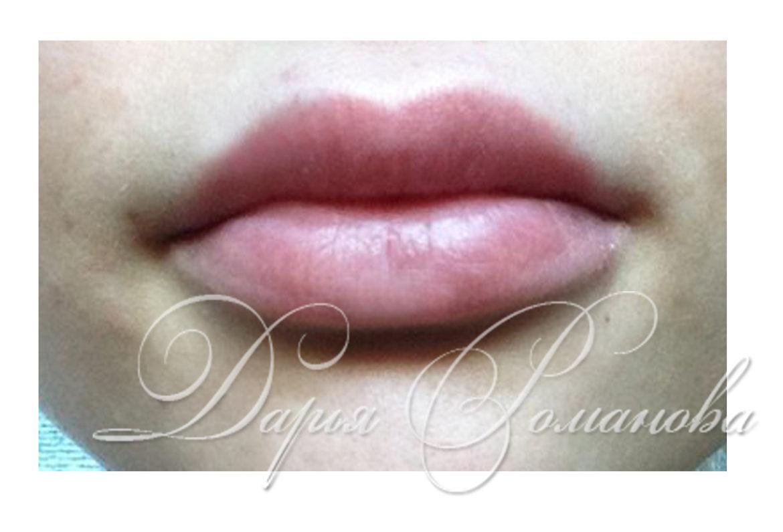 Перманентный макияж губ эффект 3d