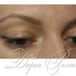 Красивый перманентный макияж век на любимой клиентке :)