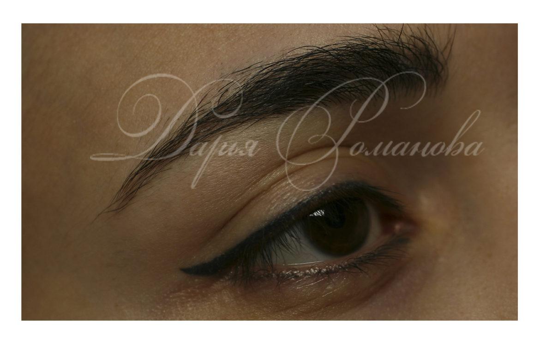 Перманентный макияж глаз перед обновлением